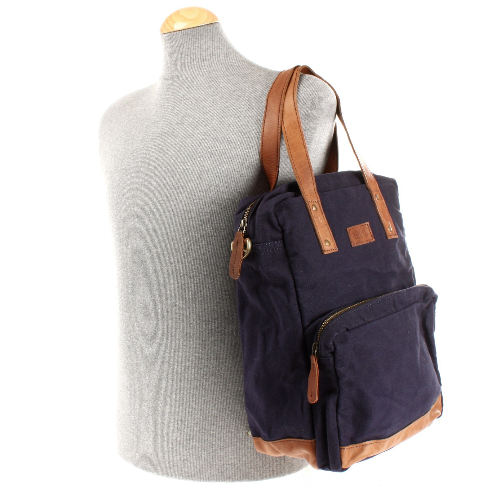 leconi rucksack umh ngetasche canvas navy le1014. Black Bedroom Furniture Sets. Home Design Ideas